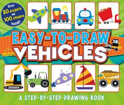 Easy-to-Draw Vehicles: A Step-by-Step Drawing Book