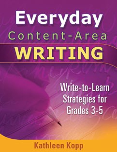 Writing Strategies for Building Background: Everyday Content-Area Writing A La Carte