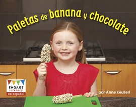 Paletas de banana y chocolate
