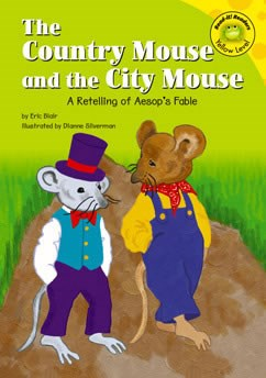 the country mouse and the city mouse a retelling of aesop 39 s fable capstone library. Black Bedroom Furniture Sets. Home Design Ideas