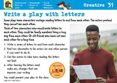 Write a play with letters
