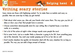 Writing scary stories