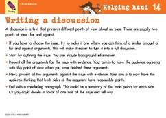 Writing a discussion