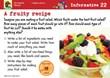 A fruity recipe