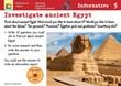 Investigate ancient Egypt