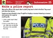Write a police report