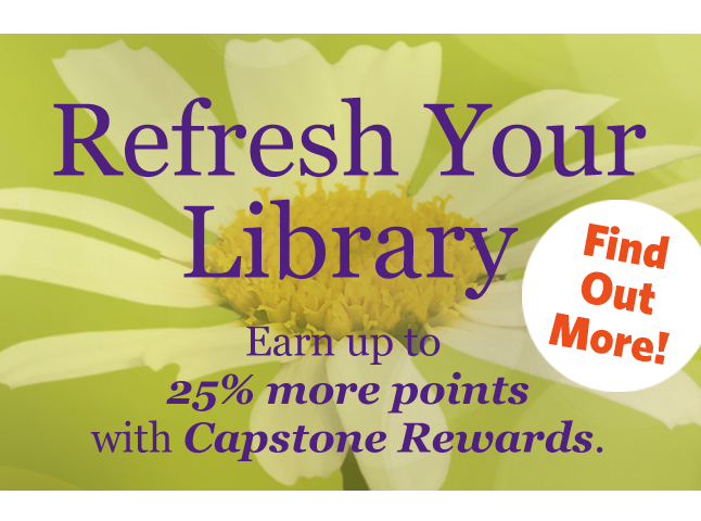 Refresh Your Library with Capstone Rewards. Learn more&#33&#59;