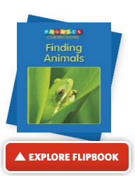 Explore the 'Finding Animals' flip book